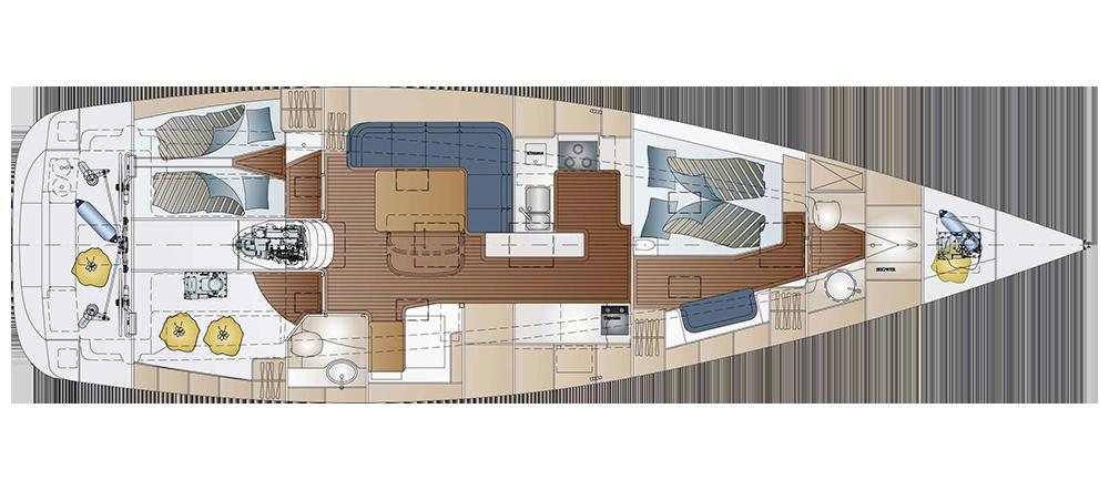 Segelyacht innen  Comfortina 46 - Comfortina